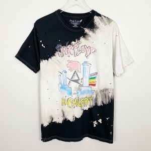 Tops - PINK FLOYD Tie Dye Bleached Graphic Band Tee New